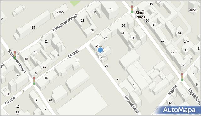 Warszawa, Wrzesińska, 12, mapa Warszawy