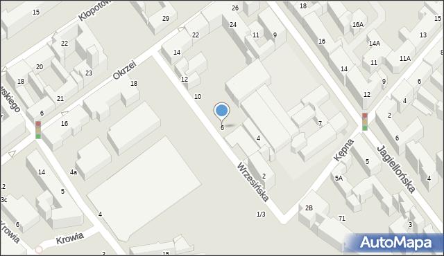 Warszawa, Wrzesińska, 6, mapa Warszawy