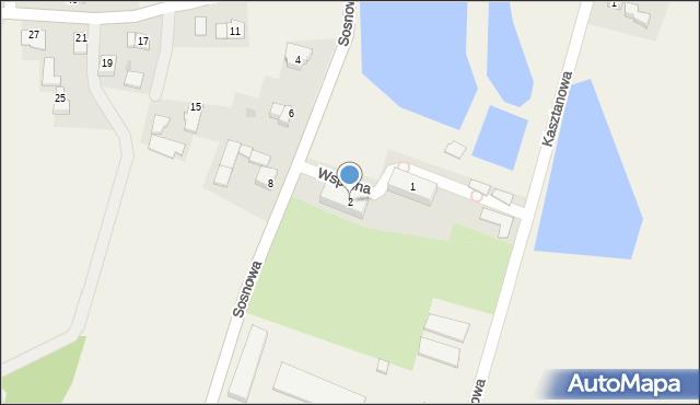 Nidek, Wspólna, 2, mapa Nidek