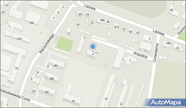 Sokołów Podlaski, Wspólna, 1, mapa Sokołów Podlaski