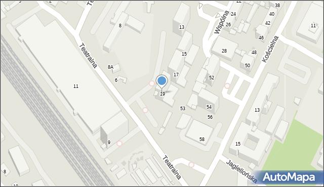 Sosnowiec, Wspólna, 19, mapa Sosnowca