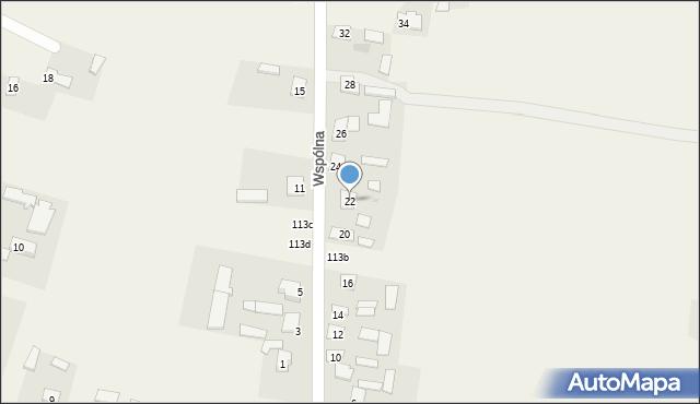 Srebrzyszcze, Wspólna, 22, mapa Srebrzyszcze