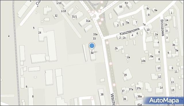 Toruń, Wschodnia, 34, mapa Torunia