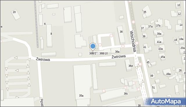 Toruń, Wschodnia, 36B/1, mapa Torunia