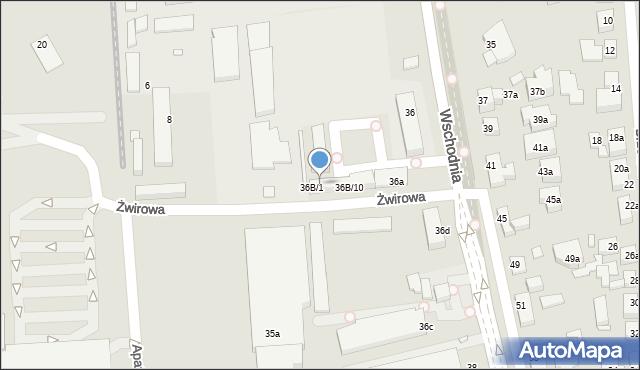 Toruń, Wschodnia, 36B/3, mapa Torunia