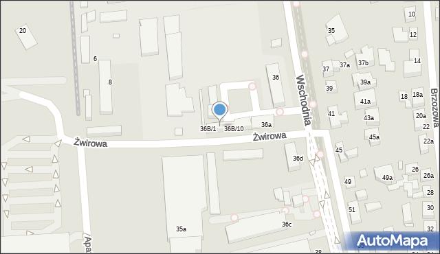 Toruń, Wschodnia, 36B/5, mapa Torunia