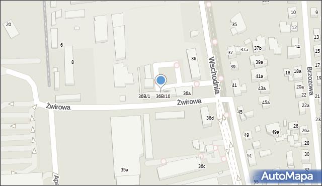 Toruń, Wschodnia, 36B/9, mapa Torunia