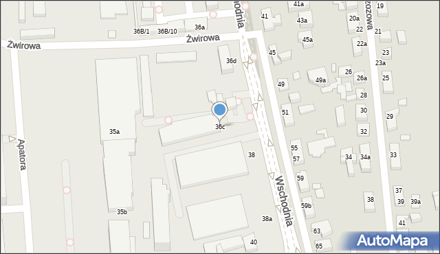 Toruń, Wschodnia, 36c, mapa Torunia