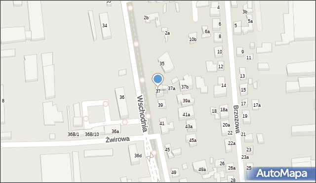 Toruń, Wschodnia, 37, mapa Torunia