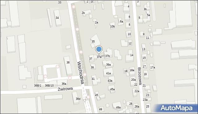 Toruń, Wschodnia, 37a, mapa Torunia