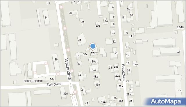 Toruń, Wschodnia, 37b, mapa Torunia
