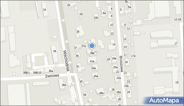 Toruń, Wschodnia, 39a, mapa Torunia