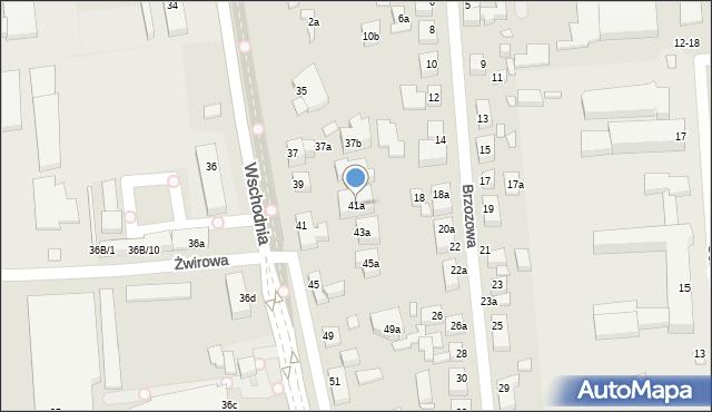 Toruń, Wschodnia, 41a, mapa Torunia