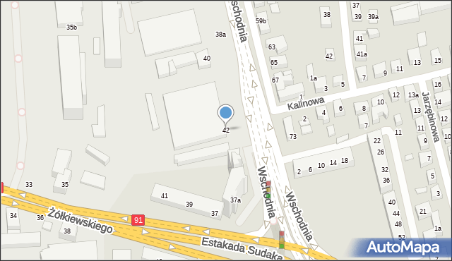 Toruń, Wschodnia, 42, mapa Torunia
