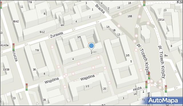 Warszawa, Wspólna, 2, mapa Warszawy