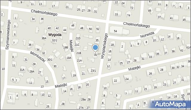 Białystok, Wyspiańskiego Stanisława, 31, mapa Białegostoku