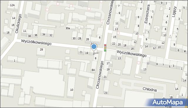 Bytom, Wyczółkowskiego Leona, 17, mapa Bytomia