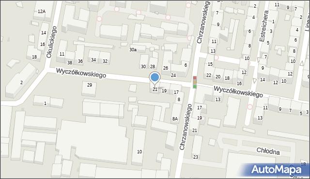 Bytom, Wyczółkowskiego Leona, 21, mapa Bytomia