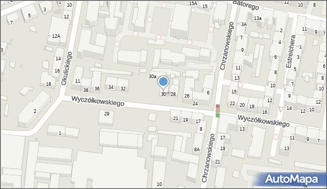 Bytom, Wyczółkowskiego Leona, 30, mapa Bytomia