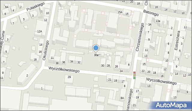 Bytom, Wyczółkowskiego Leona, 30a, mapa Bytomia