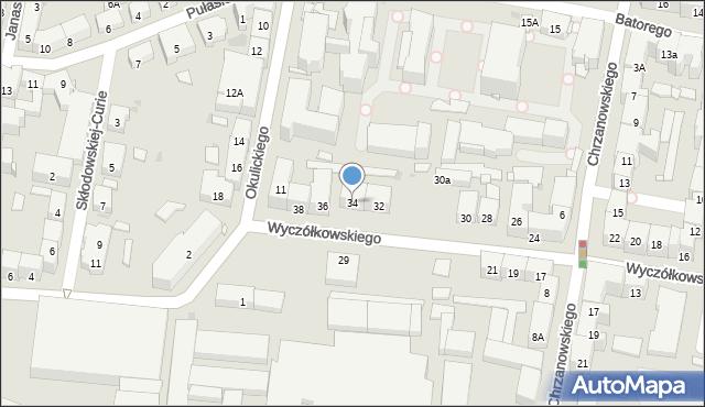 Bytom, Wyczółkowskiego Leona, 34, mapa Bytomia