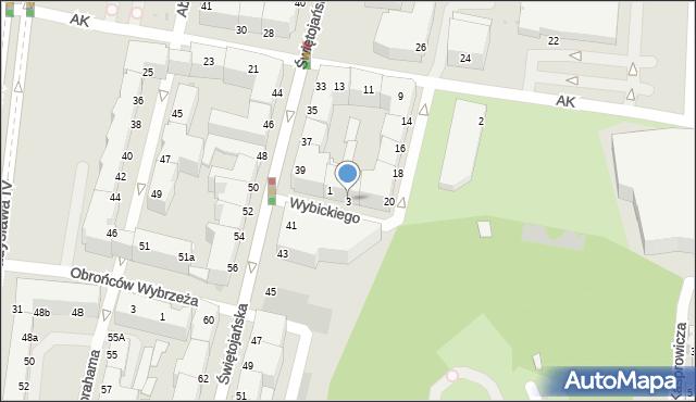 Gdynia, Wybickiego Józefa, gen., 20, mapa Gdyni
