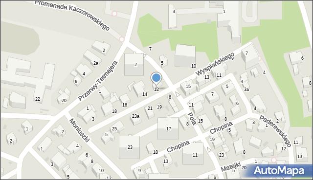 Gdynia, Wyspiańskiego Stanisława, 12, mapa Gdyni