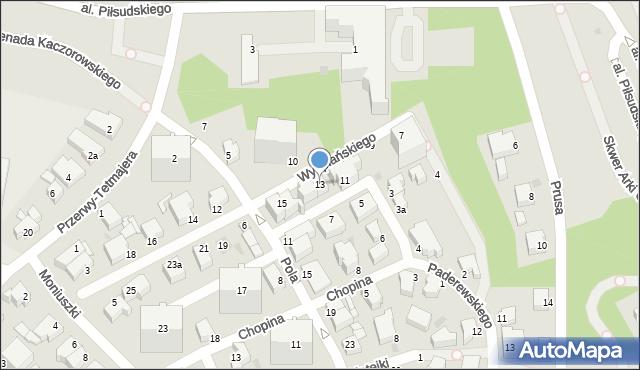 Gdynia, Wyspiańskiego Stanisława, 13, mapa Gdyni