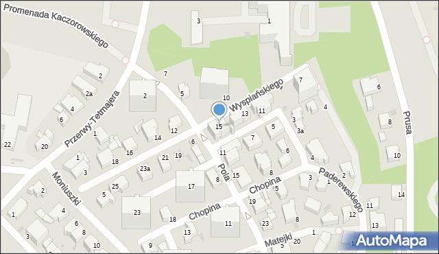 Gdynia, Wyspiańskiego Stanisława, 15, mapa Gdyni