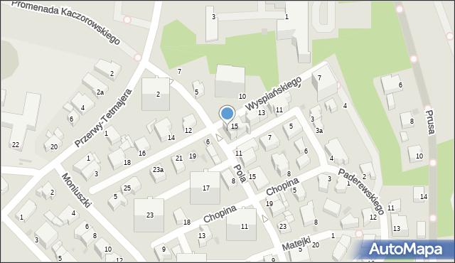 Gdynia, Wyspiańskiego Stanisława, 15A, mapa Gdyni