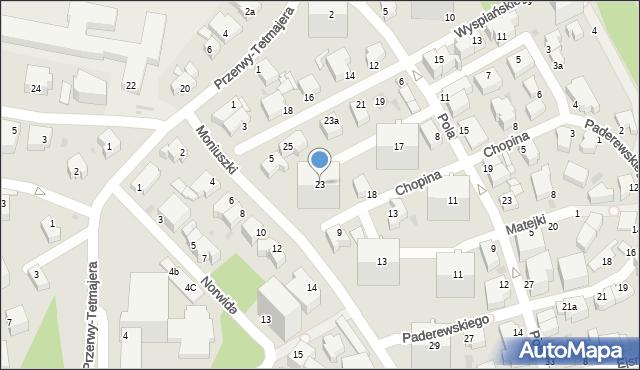 Gdynia, Wyspiańskiego Stanisława, 23, mapa Gdyni