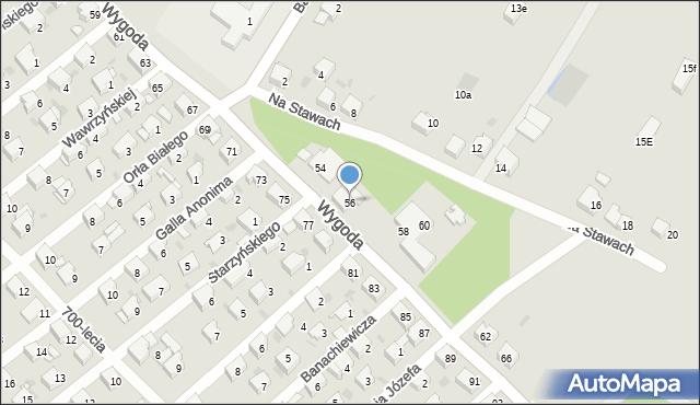 Jaworzno, Wygoda, 56, mapa Jaworzno