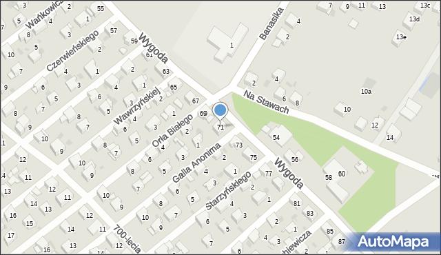 Jaworzno, Wygoda, 71, mapa Jaworzno