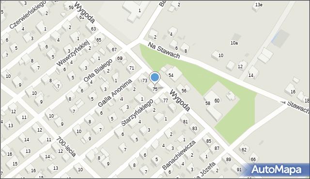 Jaworzno, Wygoda, 75, mapa Jaworzno