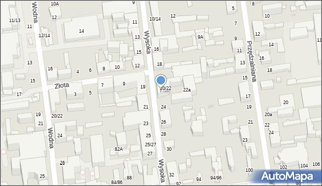 Łódź, Wysoka, 22, mapa Łodzi