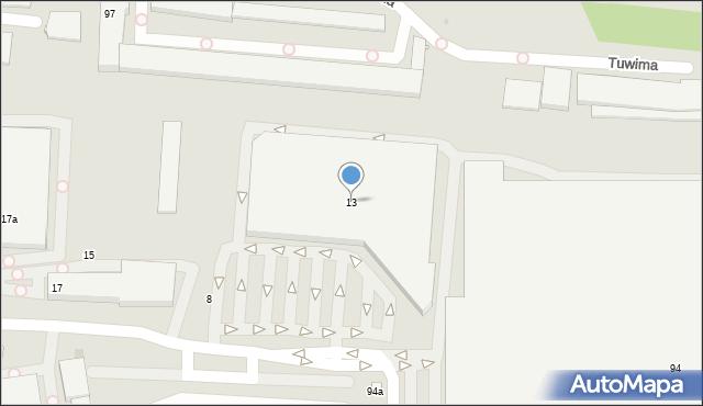 Łódź, Wydawnicza, 13, mapa Łodzi