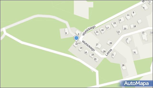 Luzino, Wybickiego Józefa, gen., 12, mapa Luzino