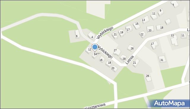 Luzino, Wybickiego Józefa, gen., 14, mapa Luzino