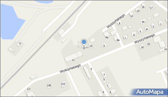 Nowa Wieś Ełcka, Wyszyńskiego Stefana, ks. kard., 11, mapa Nowa Wieś Ełcka