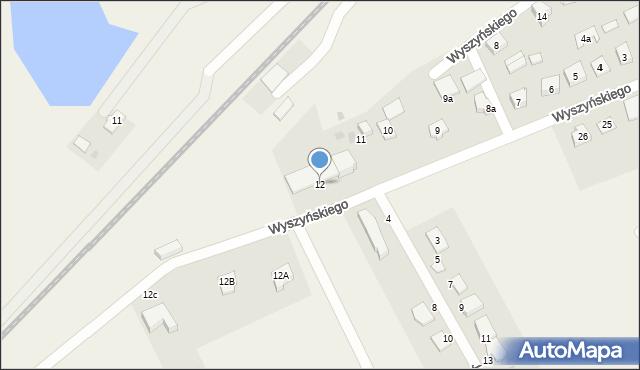 Nowa Wieś Ełcka, Wyszyńskiego Stefana, ks. kard., 12, mapa Nowa Wieś Ełcka