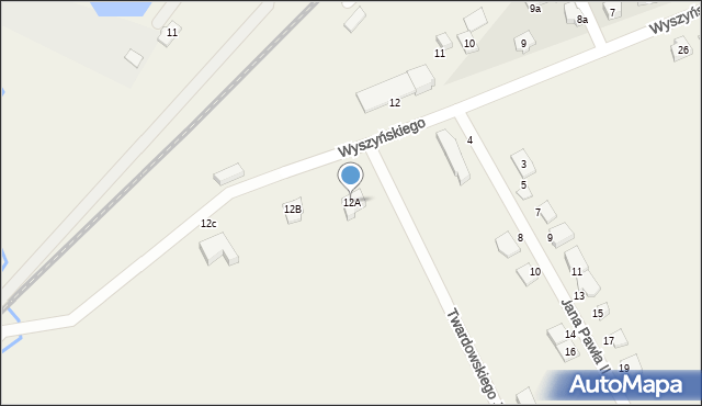 Nowa Wieś Ełcka, Wyszyńskiego Stefana, ks. kard., 12A, mapa Nowa Wieś Ełcka