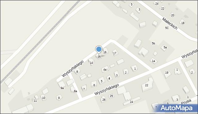 Nowa Wieś Ełcka, Wyszyńskiego Stefana, ks. kard., 15, mapa Nowa Wieś Ełcka