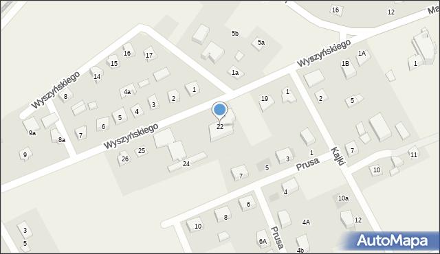 Nowa Wieś Ełcka, Wyszyńskiego Stefana, ks. kard., 22, mapa Nowa Wieś Ełcka