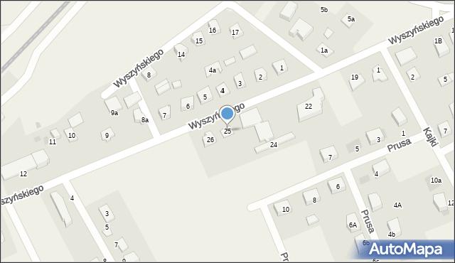Nowa Wieś Ełcka, Wyszyńskiego Stefana, ks. kard., 25, mapa Nowa Wieś Ełcka
