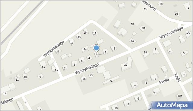 Nowa Wieś Ełcka, Wyszyńskiego Stefana, ks. kard., 3, mapa Nowa Wieś Ełcka