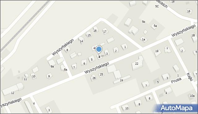 Nowa Wieś Ełcka, Wyszyńskiego Stefana, ks. kard., 4, mapa Nowa Wieś Ełcka