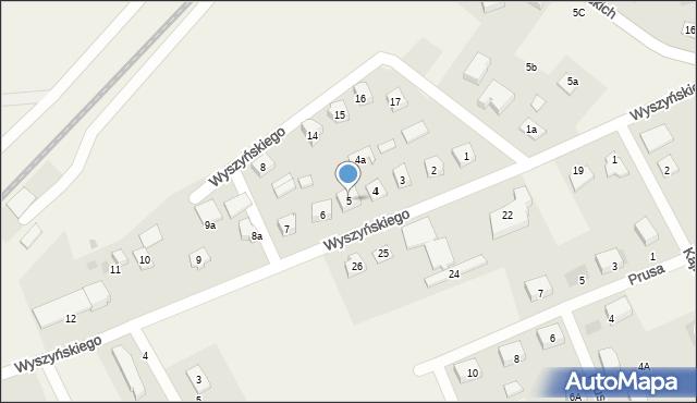 Nowa Wieś Ełcka, Wyszyńskiego Stefana, ks. kard., 5, mapa Nowa Wieś Ełcka