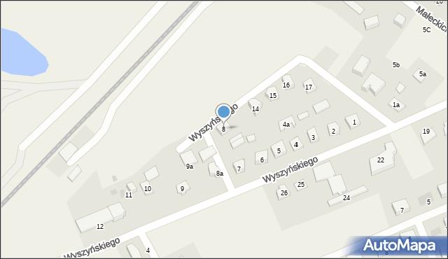Nowa Wieś Ełcka, Wyszyńskiego Stefana, ks. kard., 8, mapa Nowa Wieś Ełcka