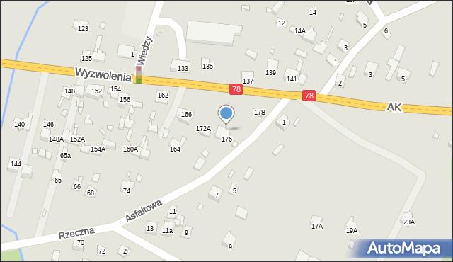 Poręba, Wyzwolenia, 176A, mapa Poręba