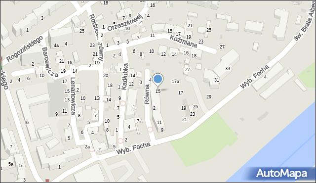 Przemyśl, Wybrzeże Ferdynanda Focha, marsz., 15, mapa Przemyśla